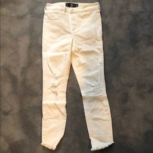 White Ripped Hollister Jeans
